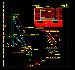 دانلود نمونه دوم نقشه اتوکد سازه نگهبان با دیتیل و جزییات کامل